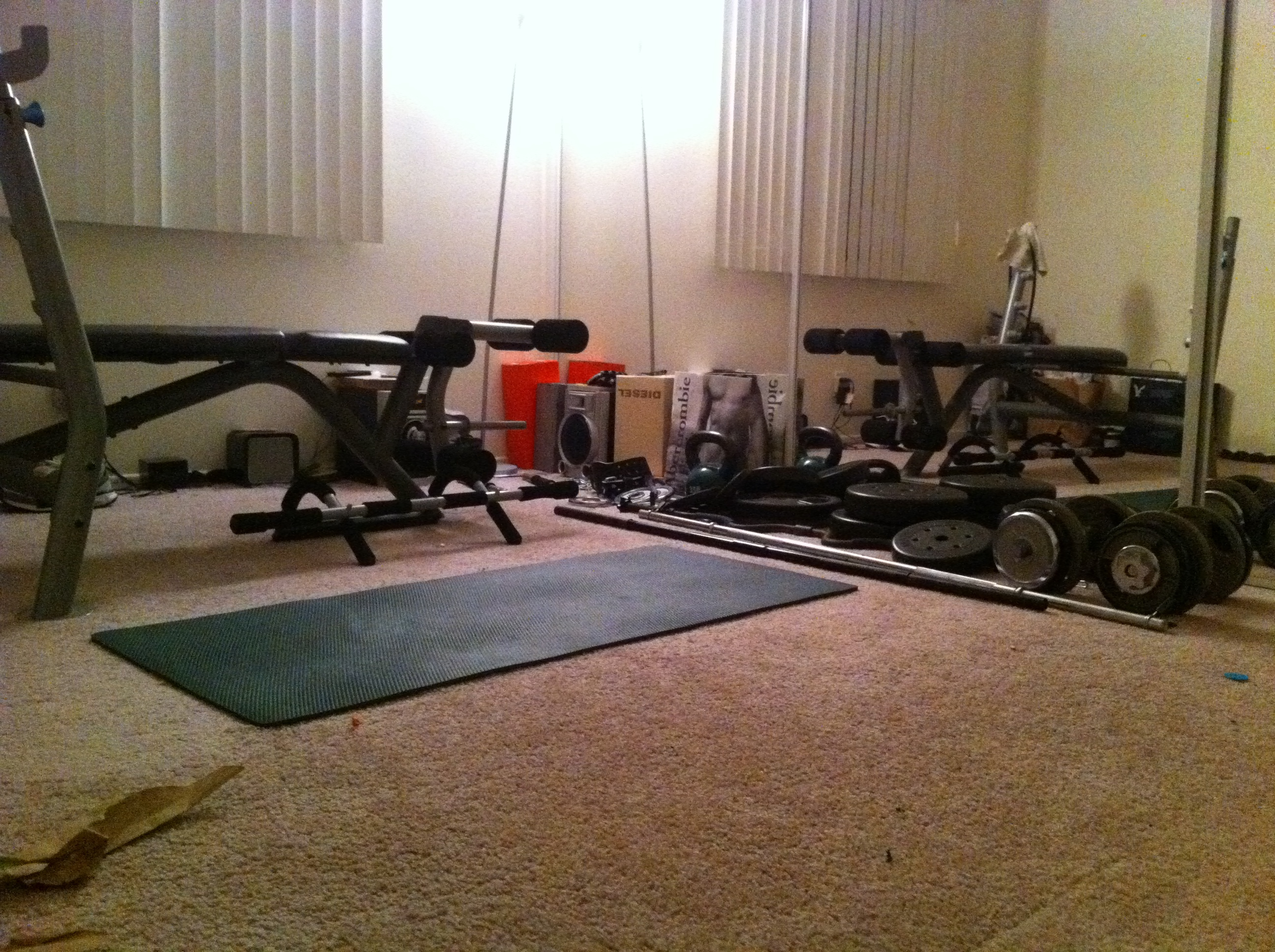 Setting up a home gym context dieting solution